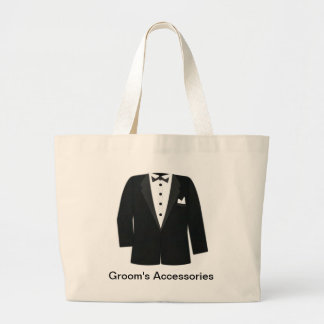 GIFTS FOR GROOM'S OR BLACK TIE EVENTS LARGE TOTE BAG