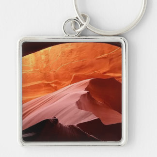 Gifts for Him Silver-Colored Square Key Ring