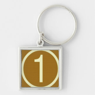 Gifts for Leaders Winners Topper Champions KIDS 99 Silver-Colored Square Keychain
