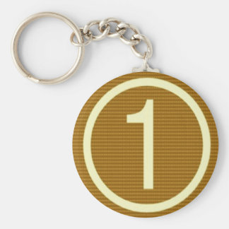 Gifts for Leaders Winners Topper Champions KIDS 99 Basic Round Button Keychain