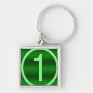 Gifts for Leaders Winners Topper Champions KIDS 9 Silver-Colored Square Keychain