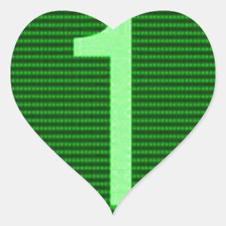 Gifts for Leaders Winners Topper Champions KIDS 9 Heart Sticker