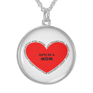 Gifts of a Mom Round Pendant Necklace