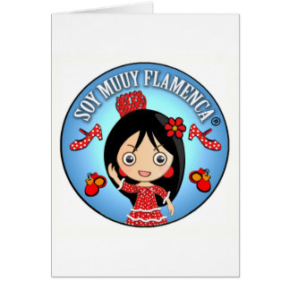 Gifts of Flamenco of I am Brown Flamenco Muuy Card
