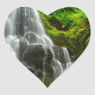 Gifts of Nature Forest Waterfall Heart Sticker
