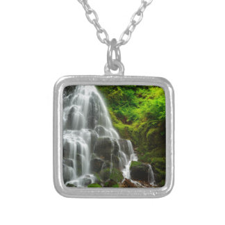 Gifts of Nature Forest Waterfall Silver Plated Necklace