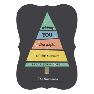 gifts of the season 13 cm x 18 cm invitation card