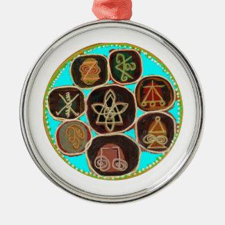 "Gifts that say  ""I  CARE""  -  KARUNA Designs Metal Ornament"