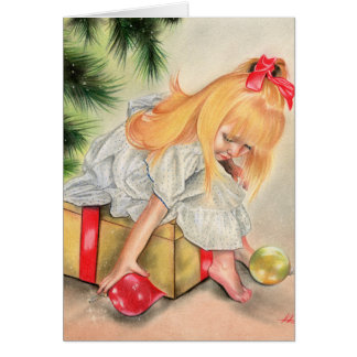 Gifts under the christmas tress Greeting Card