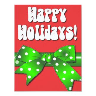 Giftwrap Happy Holidays 4.25x5.5 Paper Invitation Card
