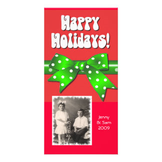 Giftwrap Happy Holidays Photo Greeting Card