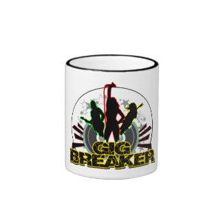 "Gig Breaker - ""Breaking Out"" Logo Ringer Mug"