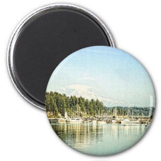 Gig Harbor 6 Cm Round Magnet