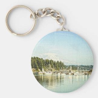 Gig Harbor Basic Round Button Key Ring