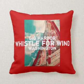 Gig Harbor Whistle for Wind pillow Throw Cushion