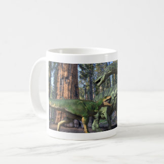 Giganatosaurus fight coffee mug