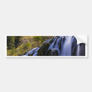 Gigantic Waterfall in a China Jiuzhaigou Bumper Sticker