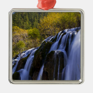 Gigantic Waterfall in a China Jiuzhaigou Metal Ornament