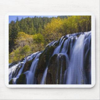 Gigantic Waterfall in a China Jiuzhaigou Mouse Pad