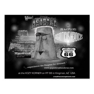giganticus headicus Greetings From AZ Route 66 Postcard
