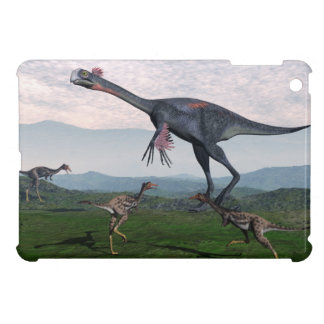 Gigantoraptor and small mononykus dinosaurs - 3D r Case For The iPad Mini