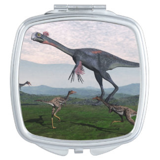 Gigantoraptor and small mononykus dinosaurs - 3D r Mirrors For Makeup