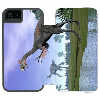Gigantoraptor dinosaurs in nature - 3D render Incipio Watson™ iPhone 5 Wallet Case
