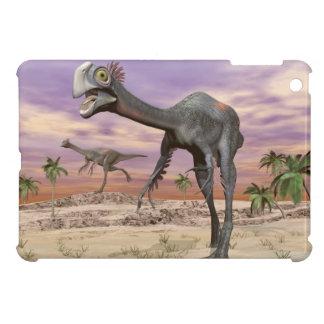 Gigantoraptor dinosaurs in the desert - 3D render iPad Mini Cases