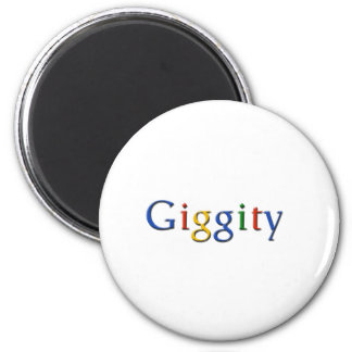 Giggity - style 6 cm round magnet