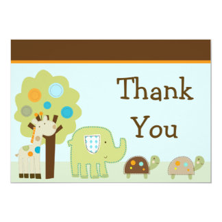 Giggle Gang/Jungle Animals Thank You Card