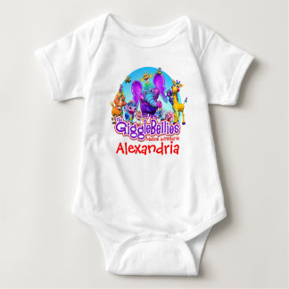 """GiggleBellies"" + Your Child's Name Baby Bodysuit"
