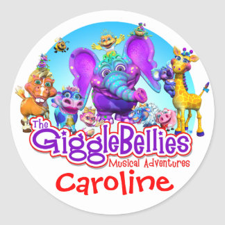 GiggleBellies + Your Child's Name Sticker