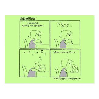 giggleBites: Writing Alphabet Postcard