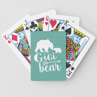 Gigi Bear Cute Great Grandma Gift Bicycle Playing Cards