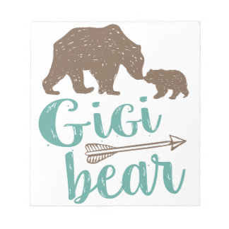 Gigi Bear Cute Great Grandma Gift Notepad