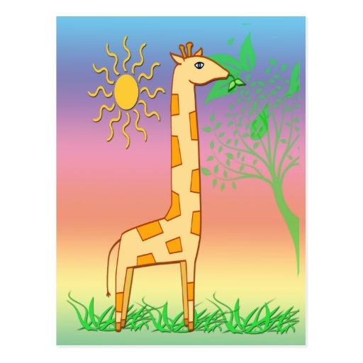 Gigi the Giraffe Postcard