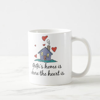 GiGi's Home is Where the Heart is Coffee Mugs