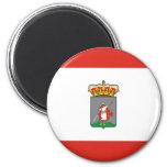 Gijon city flag 6 cm round magnet