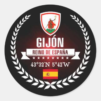 Gijón Classic Round Sticker