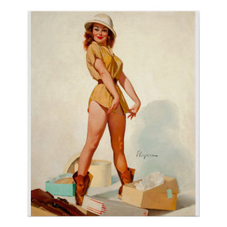 GIL ELVGREN Fit to Kill Pin Up Art Poster