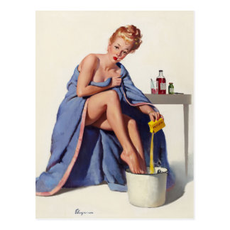 GIL ELVGREN It's Nothing to Sneeze At Pin Up Art Postcard