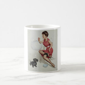 GIL ELVGREN Neat Trick, 1953 Pin Up Art Coffee Mug