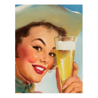 GIL ELVGREN Shiner Texas Special Pin Up Art Postcard