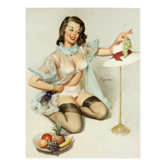 GIL ELVGREN Tasteful Design Pin Up Art Postcard