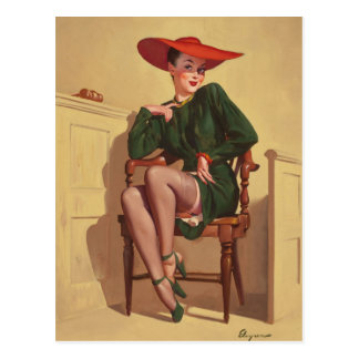 GIL ELVGREN The Verdict Was Wow Pin Up Art Postcard