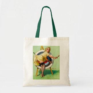 Gil Elvgren tote bag vintage rockabilly bombshell