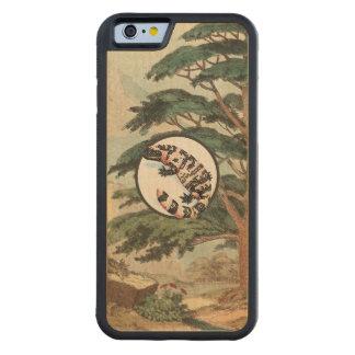 Gila Monster In Natural Habitat Illustration Carved Maple iPhone 6 Bumper Case