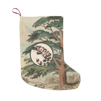 Gila Monster In Natural Habitat Illustration Small Christmas Stocking