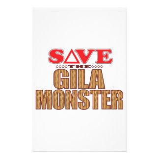 Gila Monster Save Stationery Paper