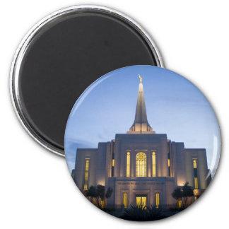 GIlbert Arizona LDS Temple 6 Cm Round Magnet